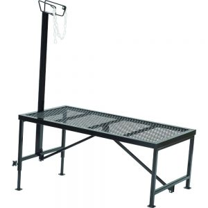 695125 Trimming Stand, Steel, Wire Form Headpiece
