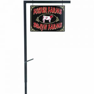 695168 Fan Cage Cattle Stall Sign Display with Fork Holder, Steel