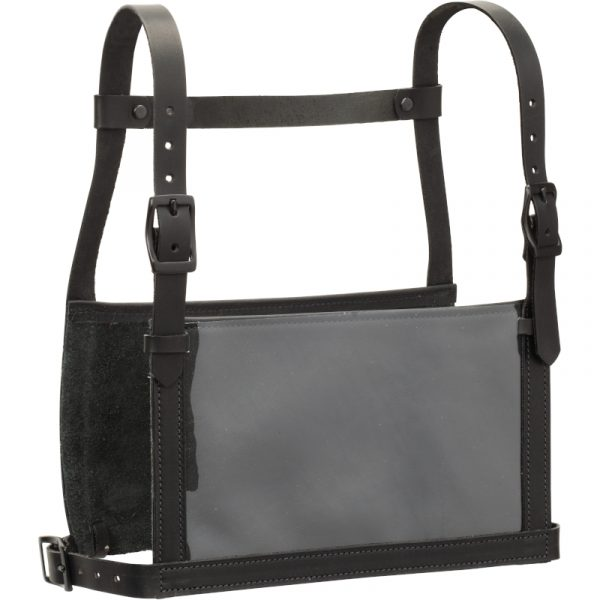 Black Leather Show Number Harness